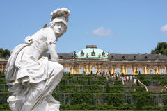 Potsdam palace. The 'Sans Souci' palace in Potsdam near Berlin, Germany. The building and surrounding gardens draw in 1000s of tourist on a daily basis Stock Photo