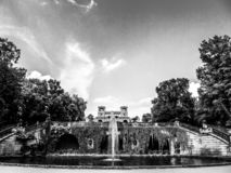 Potsdam park in black and white stock photos