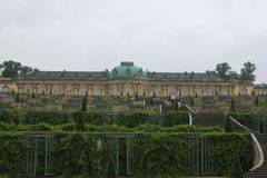Potsdam, Sanssouci palace. Sanssouci is the summer palace of Frederick the Great, King of Prussia, in Potsdam, near Berlin. It is often counted among the German royalty free stock photos