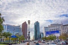 Potsdamer Platz, οικονομική περιοχή του Βερολίνου, Γερμανία Στοκ εικόνα με δικαίωμα ελεύθερης χρήσης