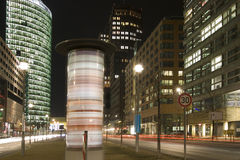 Potsdamer Platz. At night in Berlin Stock Photos