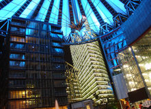 Potsdamer Platz. At night Stock Photos