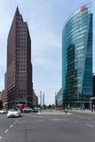 Небоскребы на Potsdamer Platz Стоковые Изображения RF