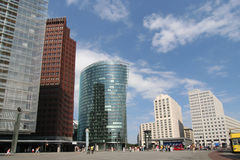 Potsdamer Platz. And railway station in Berlin, Germany Royalty Free Stock Photography