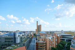Potsdamer Platz Aerial. BERLIN, GERMANY - JULY 2017: View West-Southwest from Potsdamer Platz along over Alte Potsdamer Straße in Berlin, Germany in July 2017 Royalty Free Stock Image