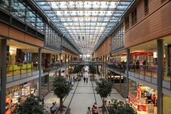 Potsdamer Platz Arkaden shopping mall in Berlin Stock Images