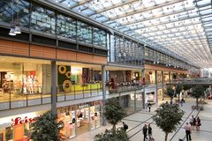 Potsdamer Platz Arkaden shopping mall in Berlin Royalty Free Stock Photo