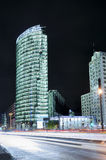 Potsdamer platz in Berlin. At night Royalty Free Stock Photos