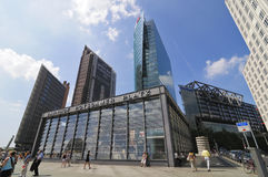 Potsdamer Platz in Berlin. Railway station, Sony Center and modern buildings on Potsdamer Platz in Berlin, Germany