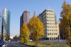 The Potsdamer Platz in Berlin. BERLIN, GERMANY - OCTOBER 20: The Potsdamer Platz in Berlin, Germany. October 20, 2012 Berlin, Germany. The Potsdamer Platz is the Royalty Free Stock Images