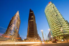 Potsdamer Platz Berlin. Evening view of the Potsdamer Platz intersection, Berlin, Germany Stock Photography