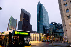 Potsdamer Platz, Berlin, Germany. Night view of Potsdamer Platz, Berlin, Germany stock images