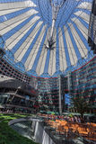 Potsdamer Platz Berlin Germany. The modern buildings and Sony Center in Postdamer Platz, Berlin, Germany Stock Image