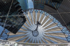 Potsdamer Platz Berlin Germany. The modern sky ceiling inside Sony Center in Postdamer Platz, Berlin, Germany Royalty Free Stock Photography