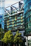 Potsdamer Platz, Berlin, Germany. Picture depicting part of the residential apartments in the Sony Center in Potsdamer Platz, Berlin Stock Photo