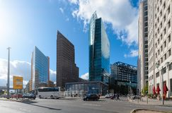 The Potsdamer Platz  in Berlin. Germany. The Potsdamer Platz is one of the main tourist attractions in Berlin Stock Images