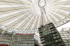 Potsdamer Square, Sony Center, Berlin. Modern buildings with a spectacular roof at the Potsdam Square (Potsdamer Platz) in Berlin, Germany Stock Photo