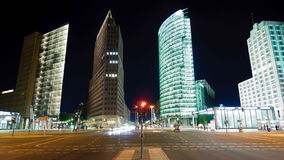 Potsdamer platz in berlin, germany stock video