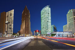 Potsdamer Platz Berlin. Image of Potsdamer Platz in Berlin during twilight blue hour Royalty Free Stock Image