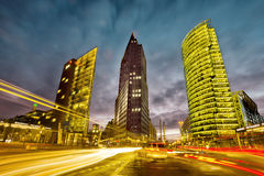 Potsdamer Platz Berlin. Intersection in front of the Potsdamer Platz in the city center of Berlin, Germany Royalty Free Stock Image