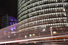Potsdamer Platz in Berlin at night Royalty Free Stock Photos