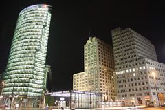 Potsdamer Platz in Berlin at night (Germany) Stock Image