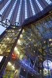 Potsdamer Platz, Berlin. BERLIN - NOVEMBER 19,2015: Sony Center November 19, 2015 in Berlin, Germany. The center is a public space, located in the Potsdamer royalty free stock photos