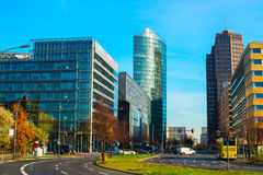 Potsdamer platz, Berlin. View of Potsdamer platz - busines downtown of Berlin, Germany Stock Photo