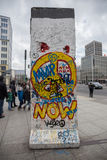 Potsdamer platz berlin wall piece germany Stock Photos