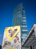 Potsdamer Platz, Berlin Wall Stock Images