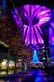 Potsdamer Platz during Christmas time. Berlin, Germany - 29.11.2016. Sony Center at Potsdamer Platz during Christmas time. Berlin, Germany - 29.11.2016 stock photo