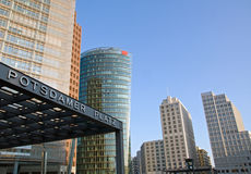 Potsdamer Platz in the early morning. Potsdamer Platz in Berlin in the early morning Stock Image