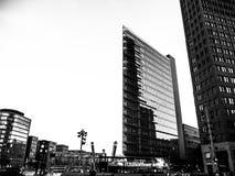 Potsdamer Platz en blanco y negro imagen de archivo libre de regalías