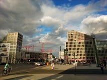 Potsdamer Platz föreningspunkt, Berlin, Tyskland Arkivfoton