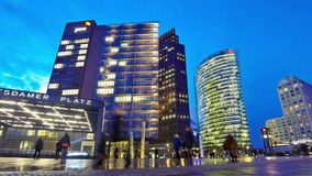 Potsdamer Platz - financial district of Berlin, Germany stock footage