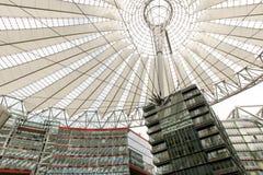 Potsdamer Platz i Berlin, Tyskland, Sony mitt Arkivfoto