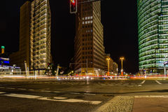 Potsdamer Platz at by night in Berlin, Germany Royalty Free Stock Photos
