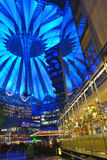 The Potsdamer Platz at night. On October 27, 2014 in Berlin, Germany. The Potsdamer Platz is the new modern city center of Berlin stock photo