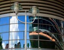 Potsdamer Platz reflexioner Arkivbild