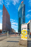 Potsdamer Platz with remains of the Berlin Wal Royalty Free Stock Images