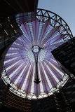 Potsdamer platz, roof dome of Sony Center. BERLIN - AUGUST 18: Potsdamer platz, roof dome of Sony Center on August 18, 2012 in Berlin. Potsdamer platz, destroyed Royalty Free Stock Photo