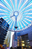 Potsdamer platz, roof dome in Sony center, Berlin Royalty Free Stock Photo