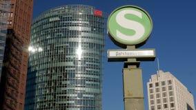 Potsdamer Platz S-Bahn Bahnhof in Berlin stock video