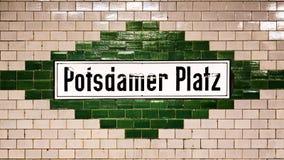 Potsdamer Platz sign Royalty Free Stock Image
