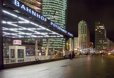 Potsdamer Platz Station. Berlin's Potsdamer Platz Railway Station / Bahnhof Potsdamer Platz at Night Royalty Free Stock Image