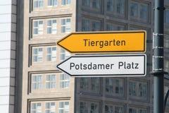 Potsdamer Platz  and Tiergarten Berlin Germany Stock Photo