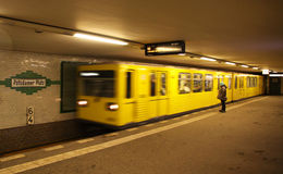 Potsdamer Platz U-bahn station in Berlin Stock Image