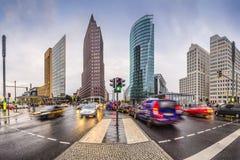 Potsdamerplatz finansiellt område av Berlin Fotografering för Bildbyråer