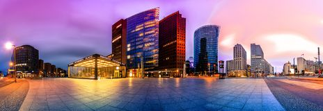 Potsdammer Platz в Берлине, Германии Стоковое фото RF