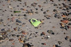Potsherd on the shore Royalty Free Stock Photos